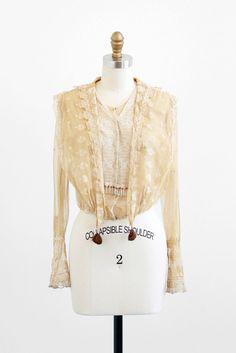 antique Edwardian lace blouse