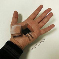 Mind-Bending 3D Optical Illusions On The Palm Of My Hand (+ Bonus Panda)