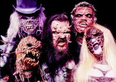 Lordi, they are so greats, like his clothes Black Angels, Music Clips, Rock Music, Rock Bands, Heavy Metal, Halloween Face Makeup, Pure Products, Alternative Music, Musicians