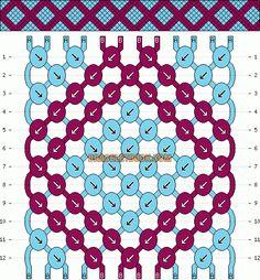 Normal Friendship Bracelet Pattern #12355 - BraceletBook.com
