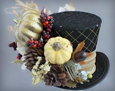 RESERVED for JENNEL Autumn Mini Top Hat Thanksgiving Mini