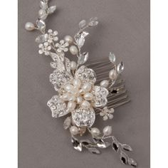 Hair Comes The Bride Freshwater Pearl and Rhinestone Headpiece