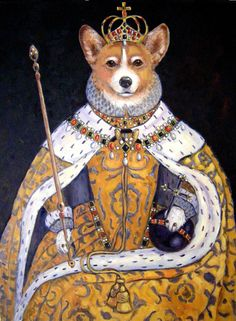 Her Doggesty Corgi The Queen