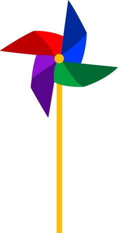 Clip art of a colorful pinwheel toy