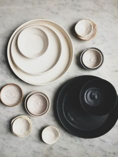 Ceramics | Monochrome | Marble | The Simple Life | Inspiration for the Trend feature, Livingetc September 2015