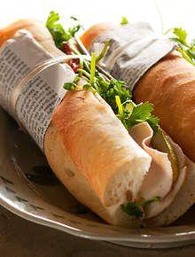 Pork terrine baguette (banh mi cha lua)
