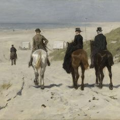 Morning Ride along the Beach, Anton Mauve, 1876 - Rijksmuseum