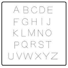 Pontilhados do alfabetos para gabarito de costura...