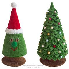 Christmas tree to knit and crochet