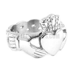 Stainless steel jewelry ring Celtic Infinity Love Heart Princess Crown Claddagh Friendship Ring SWR0023