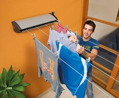 the convenience of having retractable clothes line