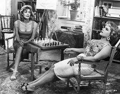 "Melina Mercouri & Despo Diamantidou in ""Never on Sunday"" (Ποτέ την Κυριακή) 1960 Never On Sunday, I Started A Joke, Style Matters, Lana Del Ray, Amy Winehouse, Film Stills, Best Actress, Classic Hollywood, Movie Stars"