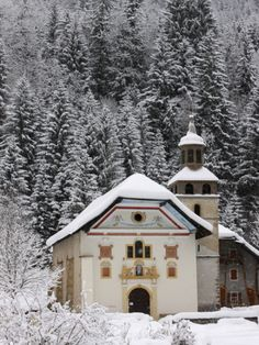 Notre Dame De La Gorge Church, Les Contamines, Haute Savoie, France