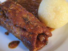 Seitan-Rouladen mit Kartoffelknödl