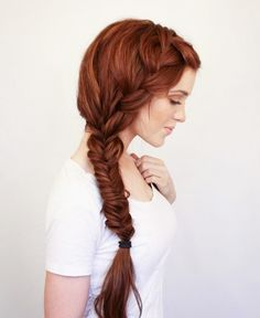 Rock this side fishtail braid all summer long.