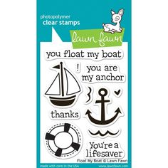 Lawn Fawn Clear Stamps Float My Boat / Lawn Fawn Sello transparente Flotas mi Barco