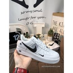 8d5fd6796e1 Women Men Latest Nike Air Force One AJ7747-100 R Hook Classic All-Match Sneakers  White And Black
