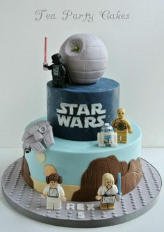 Secret Obsession - gateau-anniversaire-enfant-originaux-star-wars - His Secret Obsession.Earn Commissions On Front And Backend Sales Promoting His Secret Obsession - The Highest Converting Offer In It's Class That is Taking The Women's Market By Storm Star Wars Torte, Bolo Star Wars, Star Wars Cake, Star Wars Cupcakes, Lego Do Star Wars, Aniversario Star Wars, Lego Birthday, Birthday Cakes, Star Wars Birthday Cake