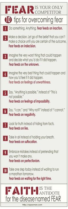 Overcoming Fear - Friday handout on rectherapyideas.blogspot.com
