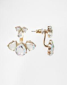 ASOS Pastel Teardrop Jewel Swing Earrings