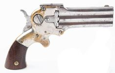 American 3-Shot Wm. W. Marston Three-Barrel Deringer. Made, circa. 1864-1872. American 3-Shot Wm. W. Marston Three-Barrel Deringer. Made, circa. 1864-1872.… / MAD on Collections - Browse and find over 10,000 categories of collectables from around the world - antiques, stamps, coins, memorabilia, art, bottles, jewellery, furniture, medals, toys and more at madoncollections.com. Free to view - Free to Register - Visit today. #Weapons #Guns #MADonCollections #MADonC