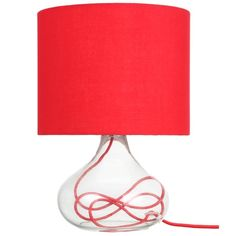 Clarity Table Lamp in Red   was $34.95 NOW $20.89 #thefreedomsale #freedomaustralia #happynewlook