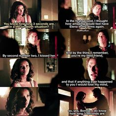 """""""[7x01] I love their friendship so much To all the Bamon haters, can you see NOW that Damon truly cares about Bonnie?!!! ⠀ My edit give credit…"""""""
