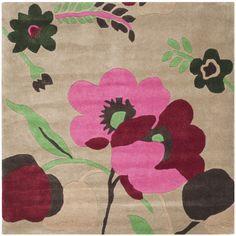 Safavieh Handmade Bella Sand/ Multi Wool Rug