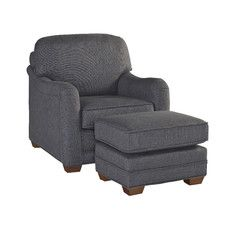 Stationary Arm Chair and Ottoman