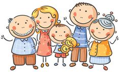 Cartoon family of five. Happy cartoon family of five, no gradients , National Grandparents Day, Happy Grandparents Day, Family Of Five, Happy Family, Grandparents Day Activities, Family Drawing, Happy Cartoon, Autumn Art, Stick Figures