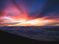 Haleakala House of the Sun timelapse | ... sunrise from the top of Haleakala (House of the Sun). Maui, Hawaii