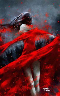 dança em vermelho
