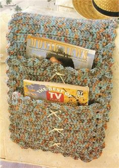 Country Ribbons Armchair Caddy Crochet Pattern | eBay