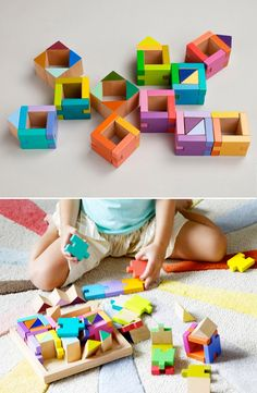 COLORATURO Blocks / Dwell Studio #modern #kids #wood #toys  Love the way these colours work together
