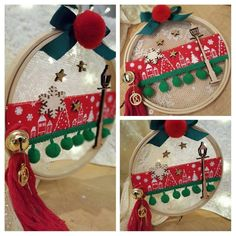 Christmas Makes, Christmas Tag, Diy Christmas Gifts, Vintage Christmas, Christmas Wreaths, Christmas Bulbs, Christmas Decorations, Xmas, Decor Crafts