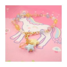 Gold Fairy Kei OTT Lolita Bracelet Linked Sweet by blacktulipshop, $6.50