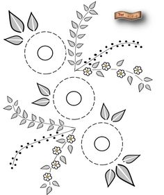 Embroidery Pattern from BEA WORKSHOPS: GRAPHICS FOR EMBROIDERY. jwt
