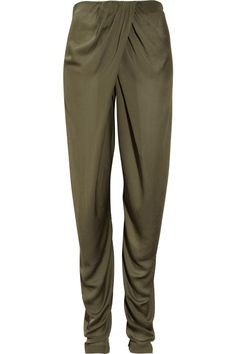 Parachute-satin harem pants by Willow: I like how they're designed.