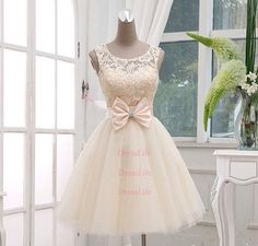 short lace wedding dress simple gowns dresses Pageant Dress girl party dress bridal gowns 2014 Formal Gown x211 on Etsy, $109.00