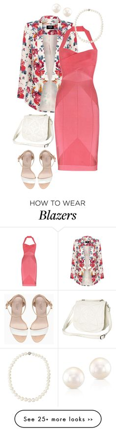 """""""Pearls, Pink, Blazer"""" by forestcat-lsc on Polyvore"""