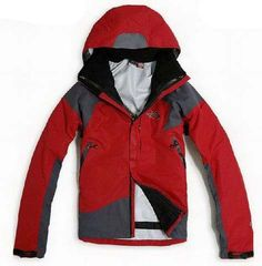 North Face Mens Triclimate 3 In 1 Jacket Red Light Gray