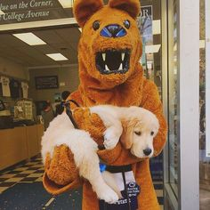 Nittany Lion and Pup