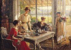 Women Taking Tea (oil on canvas), Lynch, Albert (1851-1912) / Museo de Arte, Lima, Peru / Giraudon / The Bridgeman Art Library