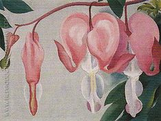 Hand painted reproduction of Bleeding Heart 1938 1. This masterpiece was painted originally by Georgia O'Keeffe. Museum quality handmade oil painting reproduction oil painting on canvas. Buy Now!.