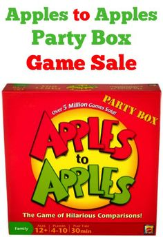 Apples to Apples Party Box Game Sale: $14.77!  {check another gift off the list!}