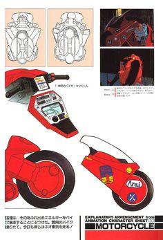 Robot Manga, Manga Anime, Anime Art, Character Sheet, Character Design, Kaneda Bike, Hero Machine, Akira Anime, Japanese Robot