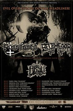 Long Live The Loud 666: POSSESSED,BELPHEGOR,ABSU IN EVIL OVER EUROPE 2017