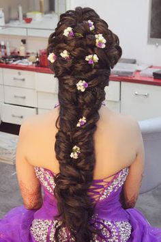 "Orange The Salon ""Portfolio"" album - Bridal Hairstyle for Long Hair Bridal Wedding Hairstyle, Mehendi Hairstyle. Bun Hairstyles For Long Hair, Flower Girl Hairstyles, Indian Hairstyles, Bride Hairstyles, Hair Dos, Hairstyle Wedding, Hairstyle Ideas, Hairstyle Tutorials, Long Hair Wedding Styles"