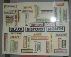 Middle School Black History Month Bulletin Board Idea