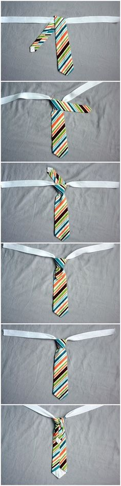 Sewing For Kids Clothes tie tying demonstration. get the tie patterns for free too! Sewing Hacks, Sewing Tutorials, Sewing Crafts, Sewing Projects, Sewing Ideas, Crafts For Boys, Baby Crafts, Diy For Kids, Sewing For Kids